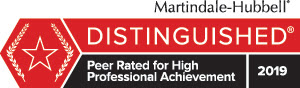 Martindale Hubbel Distinguished Rating